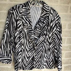 XL Ern London zebra striped women's blazer